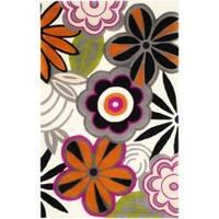 Safavieh Handmade New Zealand Wool Flower Power Ivory Rug - 3'6 x 5'6