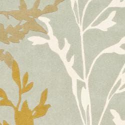 Safavieh Handmade New Zealand Wool Branches Blue Rug (3'6 x 5'6')