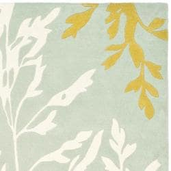 Safavieh Handmade New Zealand Wool Branches Blue Rug (5'x 8') - Thumbnail 1