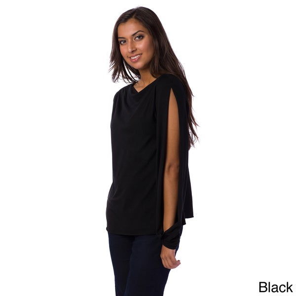 AtoZ Women's Vented Sleeve Top