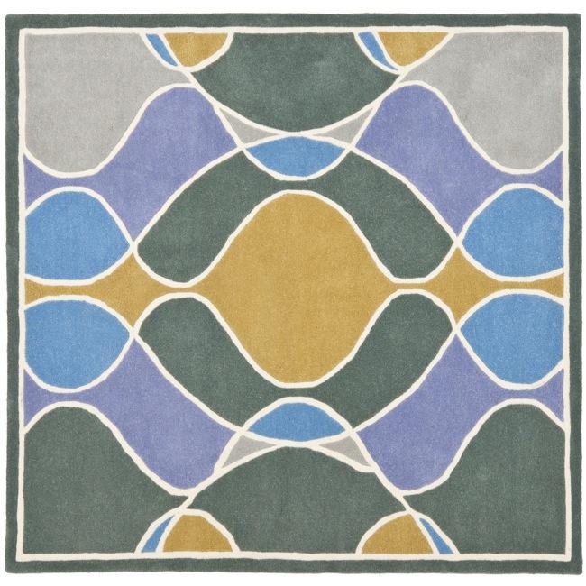 Safavieh Handmade Soho Modern Abstract Multicolored Rug (6' x 6' Square)
