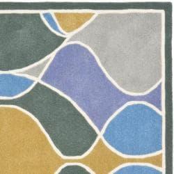 Safavieh Handmade Soho Modern Abstract Multicolored Rug (6' x 6' Square) - Thumbnail 1