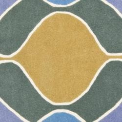 Safavieh Handmade Soho Modern Abstract Multicolored Rug (6' x 6' Square) - Thumbnail 2