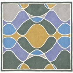 Safavieh Handmade Soho Modern Abstract Multicolored Rug (6' x 6' Square) - Thumbnail 0