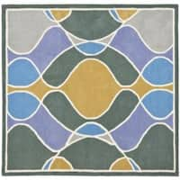 Safavieh Handmade Soho Modern Abstract Multicolored Rug (6' x 6' Square) - 6' Square