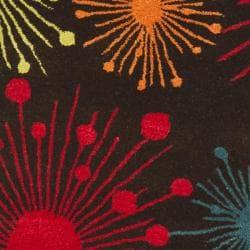 Safavieh Handmade New Zealand Wool Cosmos Brown Rug (2'6 x 8') - Thumbnail 2