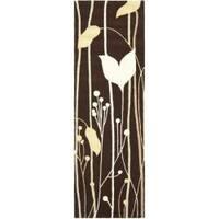 Safavieh Handmade New Zealand Wool Gardens Dark Brown Rug (2'6 x 8') - 2'6 x 8'