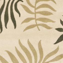 Safavieh Handmade New Zealand Wool Ferns Beige Rug (2'6 x 8') - Thumbnail 2