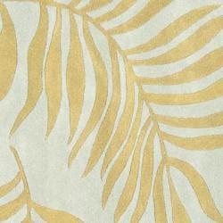 Safavieh Handmade New Zealand Wool Ferns Light Blue Rug (6' Square) - Thumbnail 2