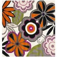 Safavieh Handmade New Zealand Wool Flower Power Ivory Rug - 6' x 6' Square