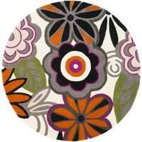 Safavieh Handmade New Zealand Wool Flower Power Ivory Rug - 6' x 6' Round