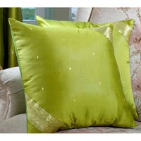 Set of Two Sari Fabric Decorative Pillow Covers  , Handmade in India