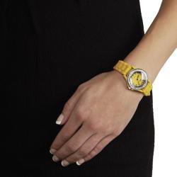Geneva Platinum Women's Rhinestone-Accented Light Blue/Yellow Silicone Watch (Set of 2) - Thumbnail 2