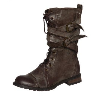 Groove Women's 'Canyon' Brown Belted Boots