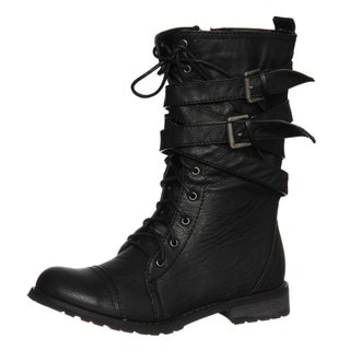 Groove Women's 'Canyon' Black Belted Boots
