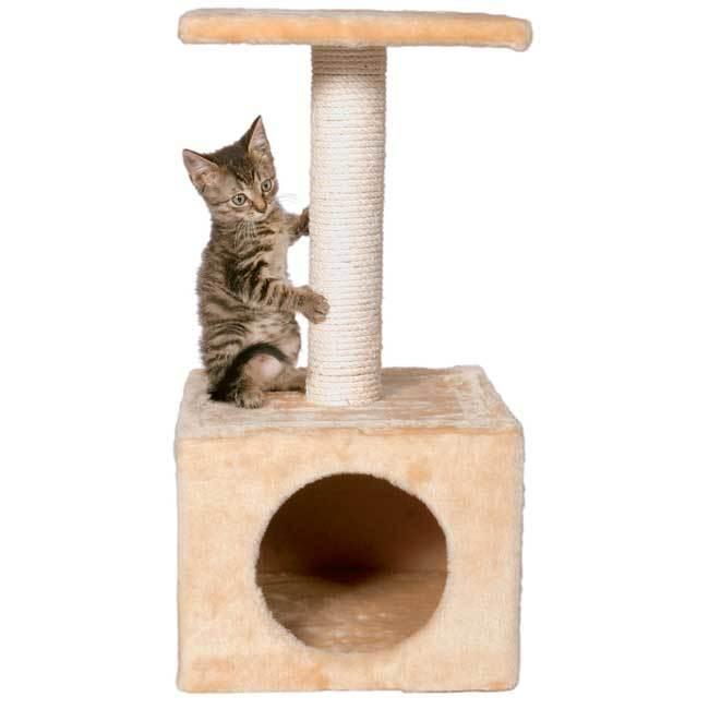 Trixie Zamora Beige Cat Tree (for kittens, beige, plush i...