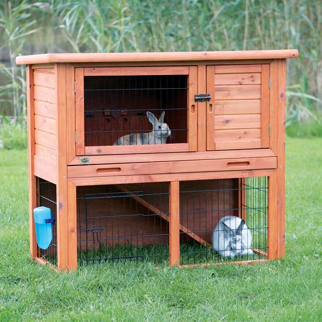 Trixie Rabbit Hutch with Sloped Roof (L) (2-story, glazed...