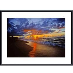 John K. Nakata 'Sunset Beach' Medium-Size Framed Art Print