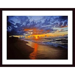 John K. Nakata 'Sunset Beach' Framed Art Print