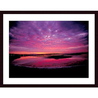 John K. Nakata 'Sunset' Wood Framed Print Art