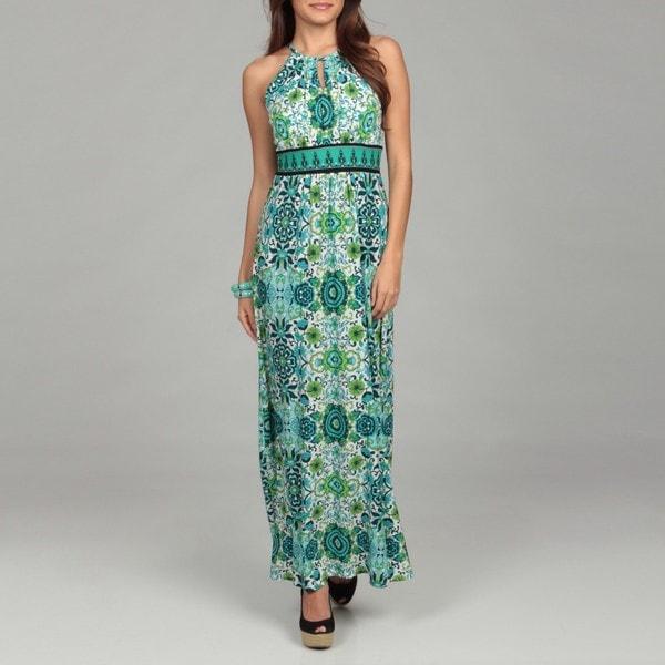 Halter keyhole maxi dress