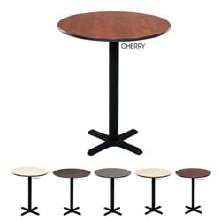 Regency bar high lunchroom 30 inch round table free for 10 inch high table