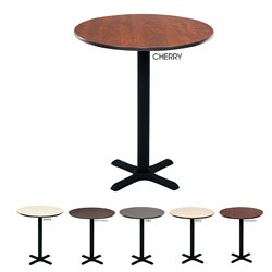 Regency Bar High Lunchroom 36-inch Round Table
