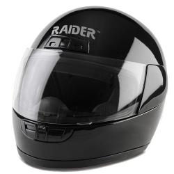 Black Thermoplastic Raider Youth Full-face Motorcycle Street Helmet