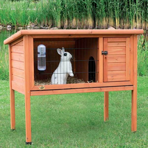 shop trixie 1 story rabbit hutch m free shipping today. Black Bedroom Furniture Sets. Home Design Ideas