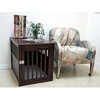 Crown Pet Products Medium Espresso Rubberwood Furniture-style Pet Crate