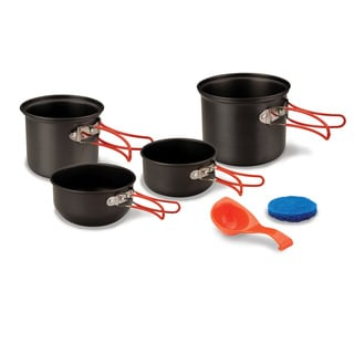 StanSport 6-piece 2-person Hard Anodized Aluminum Cook Set