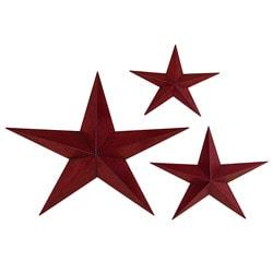 Celestial Stars Metal Wall Decor (Set Of 3)
