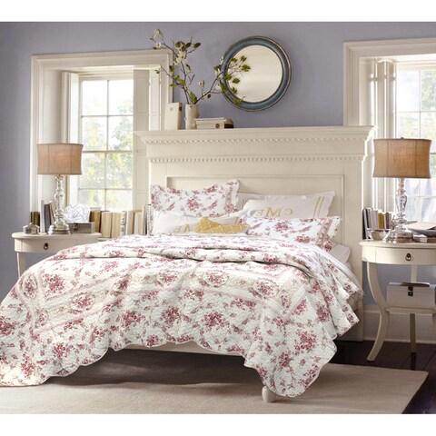 The Gray Barn Ravens Way Vintage Rose 3-piece Cotton Quilt Set