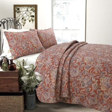 Copper Grove Chiddingfold Spice Paisley 3-piece Quilt Set - Multi