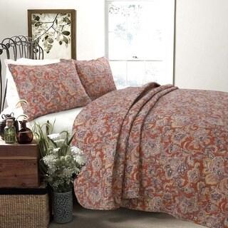 Copper Grove Chiddingfold Spice Paisley 3-piece Quilt Set (2 options available)