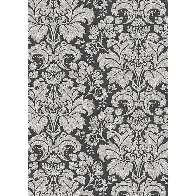 Admire Home Living Brilliance Damask Grey Area Rug (7'9 x 11') - Thumbnail 0
