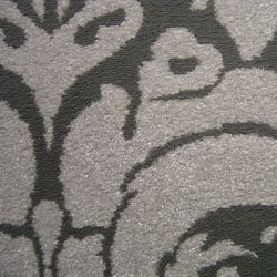 Admire Home Living Brilliance Damask Grey Area Rug (7'9 x 11')