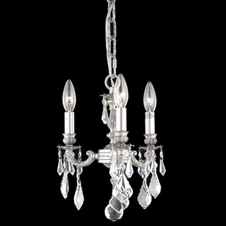 Somette Crystal 3-light Pewter Chandelier