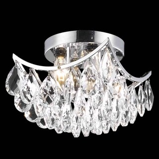 Somette Crystal Four-Light Chrome Indoor Chandelier
