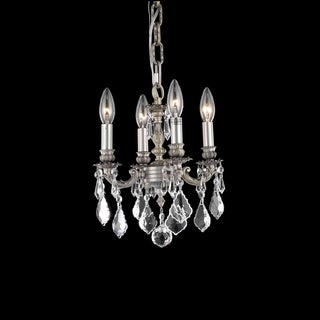 Somette Crystal 4-light Pewter Chandelier