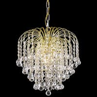 Somette Hanging Gold/Crystal Four-Light Chandelier