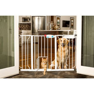 Shop Carlson Metal Super Wide Walk Through Pet Gate Free Shipping