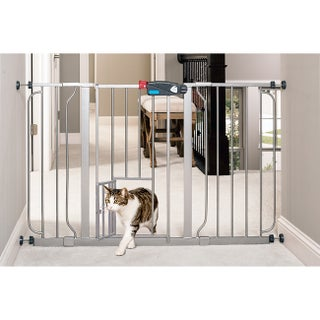 Carlson Metal Super-wide Walk-through Pet Gate (Option: Platinum)
