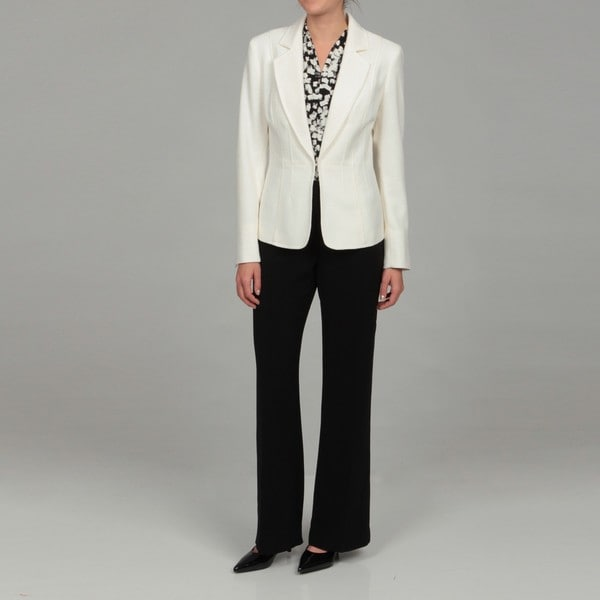 Kasper Women's Cream/ Black Three-piece Suit - Free Shipping Today
