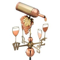 Wine Bottle Pure Copper Weathervane by Good Directions