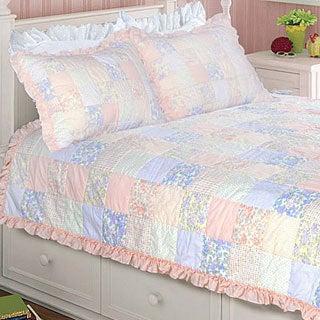 Purple Rose Twin-size 2-piece Quilt Set
