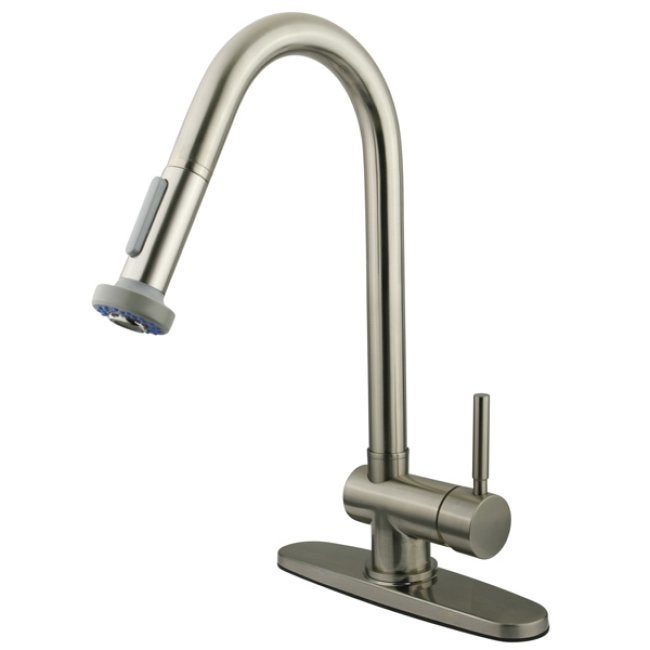 Pullout Spout Satin Nickel Kitchen Faucet