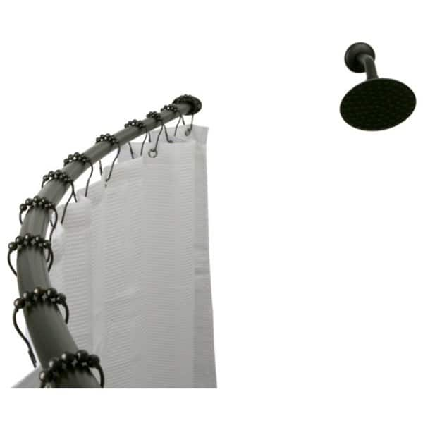 curved oil rubbed bronze shower rod