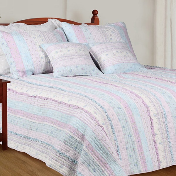 Lavender Twin-size 2-piece Quilt Set