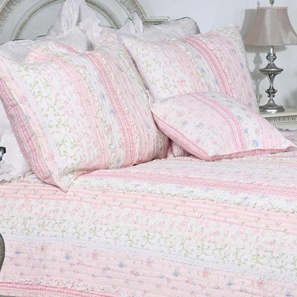 Romantic Chic Lace Twin-size 2-piece Quilt Set
